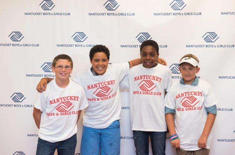 Four Boys in NBGC t-shirts
